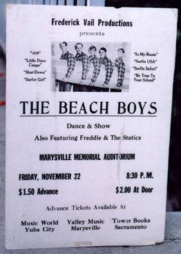Beach Boys Flyer