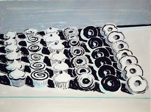 Wayne Thiebaud, Donuts and Cakes