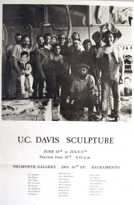 Robert Arneson, Bruce Nauman and the whole TB9 crew posed for this 1965 Belmonte show poster
