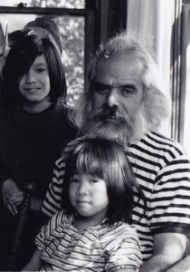 Sal Yniguez with son Chava and daughter Celia, late sixties