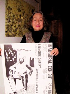 Masako Yniguez with the poster for the Belmonte's first show.