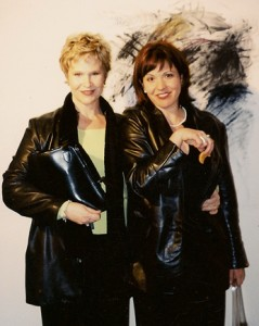 Beth Jones and Lynda Jolley at the original JAYJAY, 2001